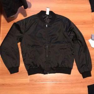 Brandy Melville satin bomber jacket